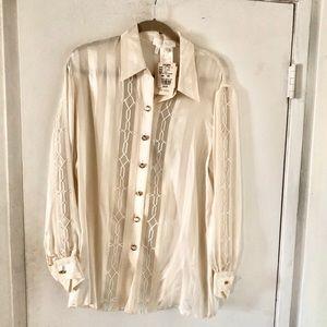 $785 ESCADA Silk Blouse NWT Size 40